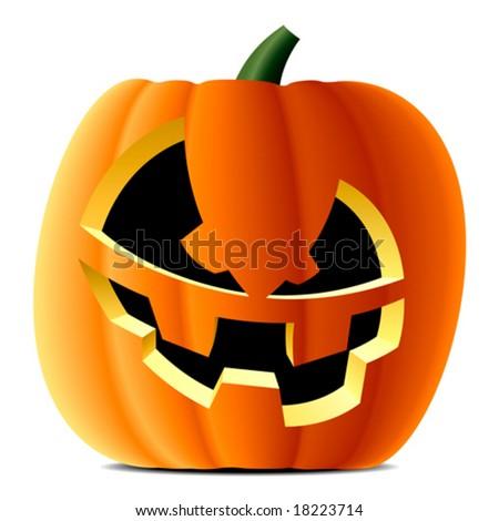 Vector pumpkin. Halloween - stock vector