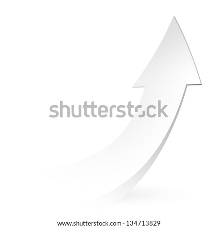 Vector - pure white arrow - stock vector