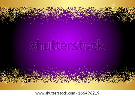 Vector purple frame with snowflakes - stock vector