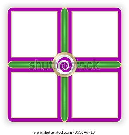 Vector purple frames for your text and spiral symbol - stock vector