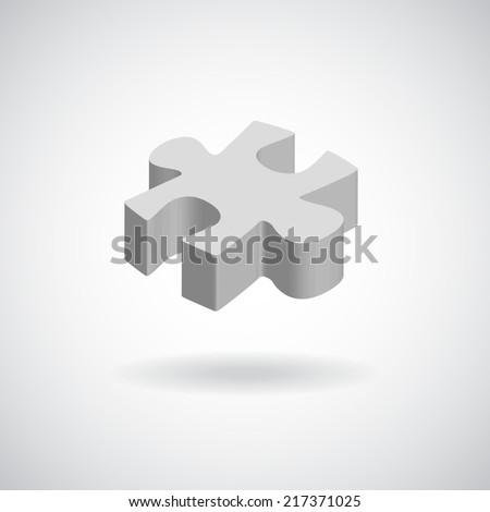 vector puzzle web icon design element. - stock vector