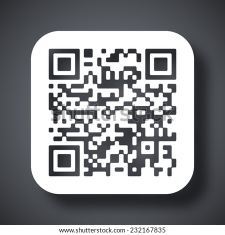 Vector QR code icon - stock vector