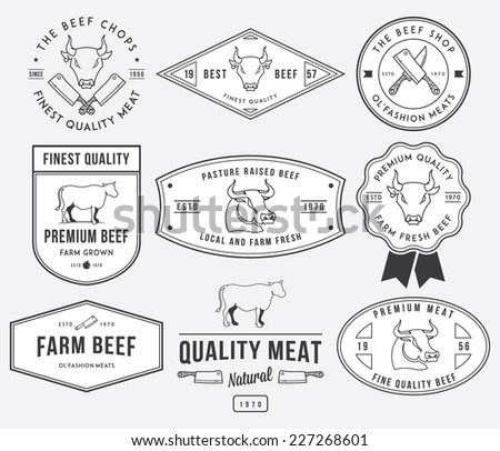 Vector quality beef badges and labels for any use