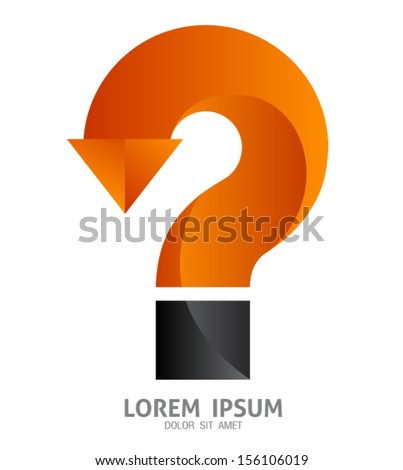 Vector question mark sign / can use for element graphic /  printing / web - stock vector