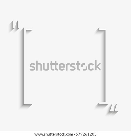 Vector Quote Blank Template Quote Rectangle Stock Vector