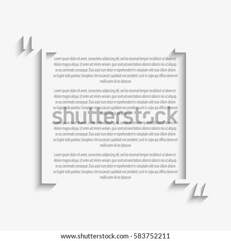 Vector quote blank template quote square stock vector 583752211 vector quote blank template quote square empty template business card template paper flashek Gallery