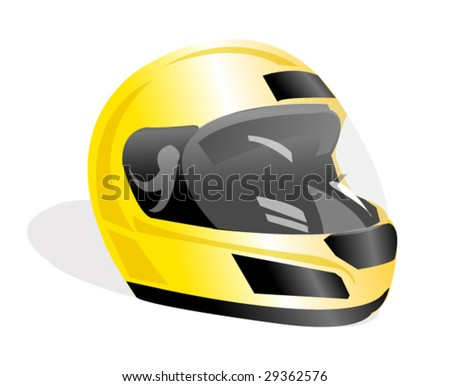 vector racing helmet - stock vector