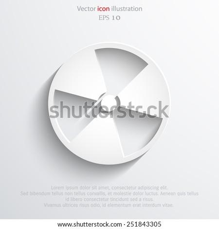 Vector radiation web icon Eps 10. - stock vector