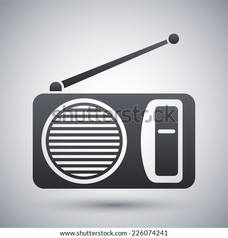 Vector radio icon - stock vector