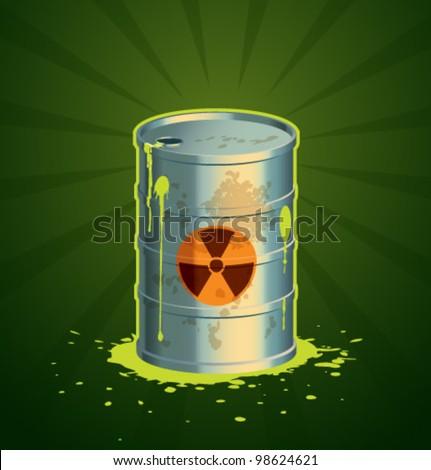 Vector radioactive barrel - stock vector