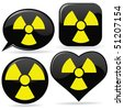 vector radioactive signs - stock vector