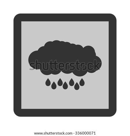 Vector rain flat icon. Weather icon of rain. - stock vector