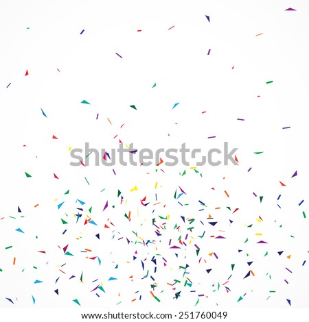 Vector rainbow background with confetti. Can be used in wedding invitations, wrapping paper, birthday card, banners etc. - stock vector