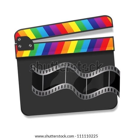 Vector rainbow clapboard - stock vector