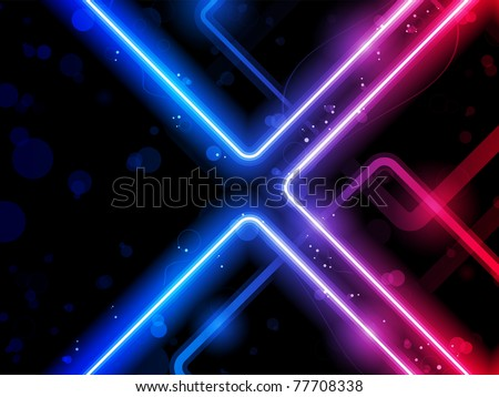 Vector - Rainbow  Lines Background Neon Laser - stock vector