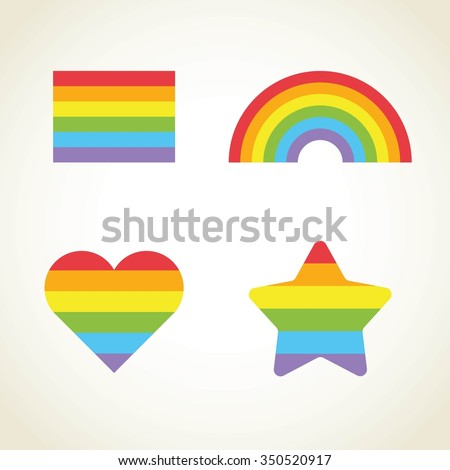 vector rainbow set gay pride icon stock vector 350520917
