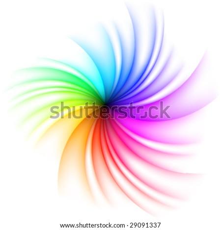 Vector Rainbow Swirl - stock vector