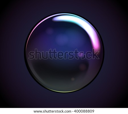 Vector Rainbow Water Bubbles. Transparent Isolated Realistic Design Elements. Can be used with any Background. - stock vector