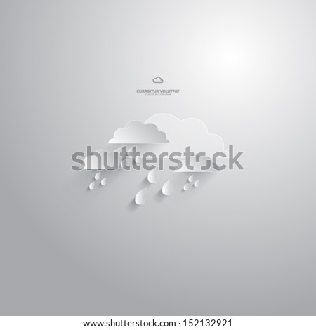 vector rainy clouds - design element - stock vector