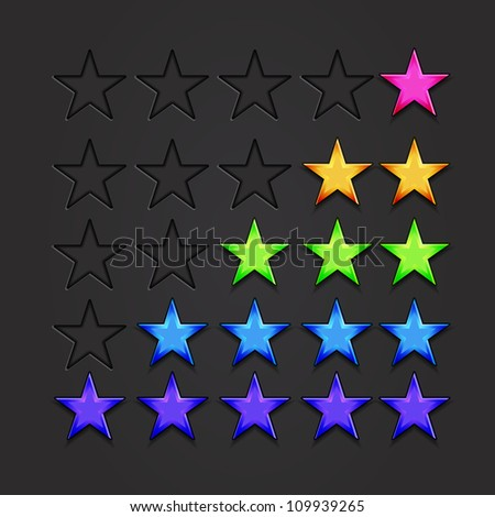 Vector rating stars - stock vector