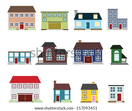 Vector real estate icons - stock vector