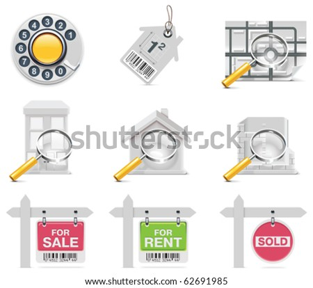 Vector real estate icons. Part 3 - stock vector