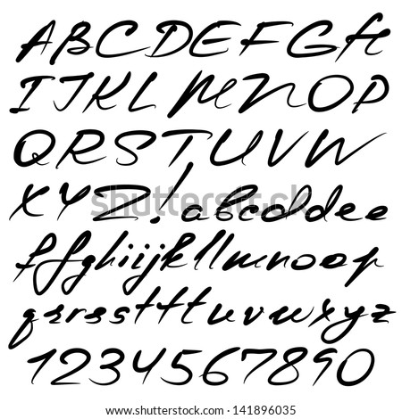 Calligraphy Alphabet Stock Photos, Royalty-Free Images & Vectors ...