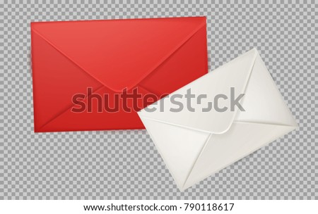 Vector realistic 3 d red white envelope stock vector 2018 vector realistic 3d red white envelope empty post letter cover business post mail stopboris Image collections
