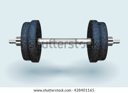 Vector realistic dumbbell