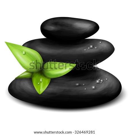 Vector realistic illustration of Spa stones - stock vector