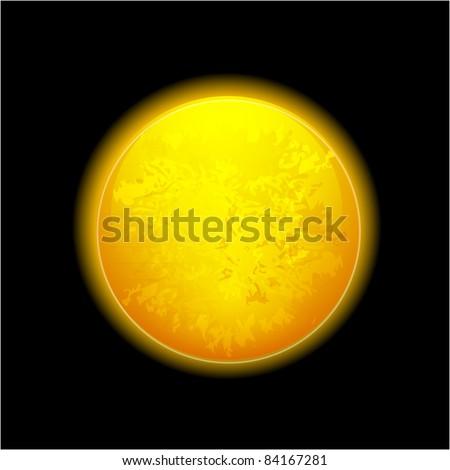 Vector realistic moon - stock vector