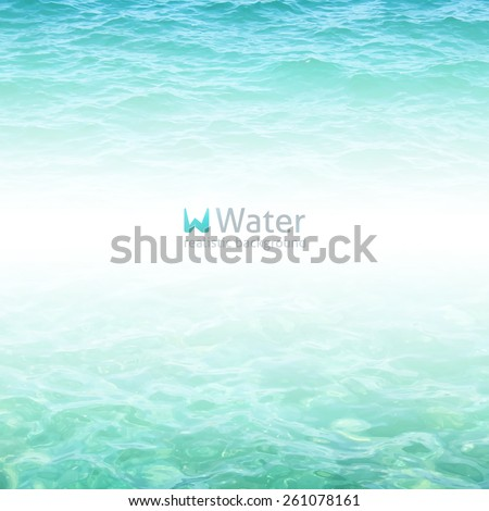 vector realistic water background in turquoise color - stock vector