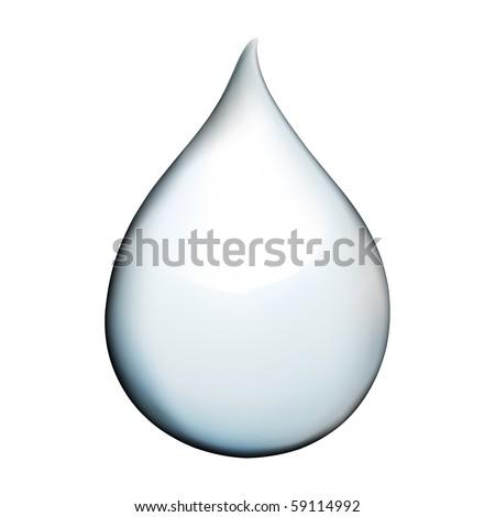 VECTOR realistic water drop - stock vector