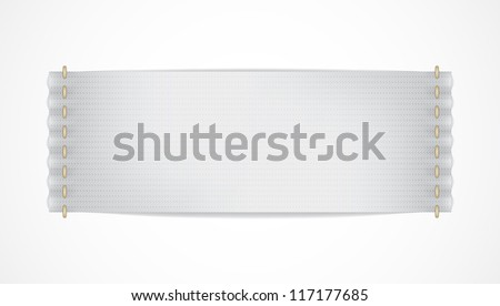 Vector realistic white label isolated. EPS10 image. - stock vector
