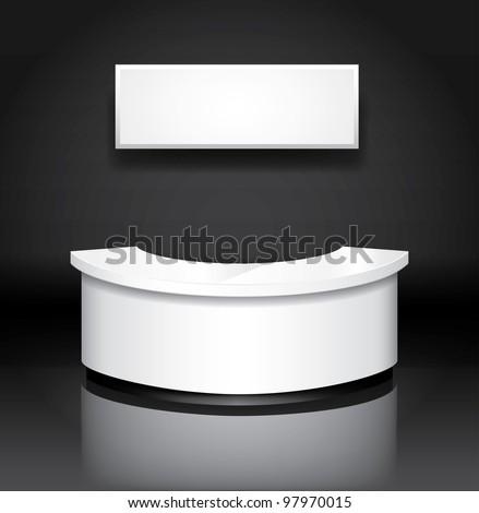 Vector reception/exhibition counter - stock vector