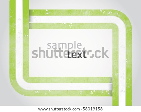 Vector rectangle for text, three color line as frame with grunge effect