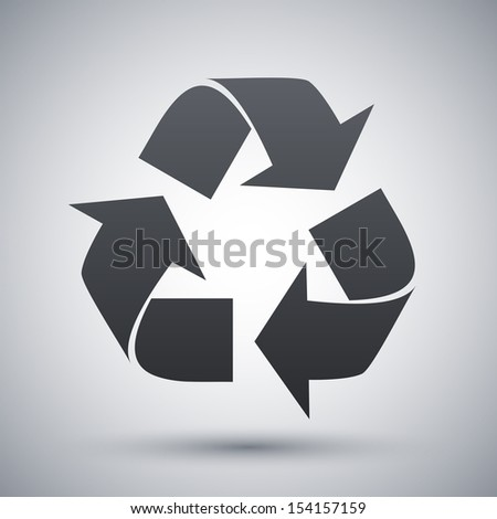 Vector recycle sign or icon - stock vector
