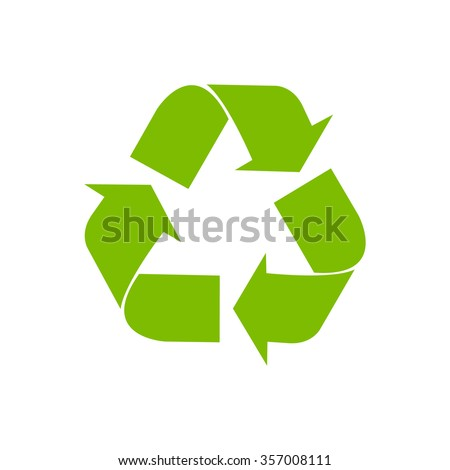 vector recycle symbol. recycle vector icon.  green icon. - stock vector