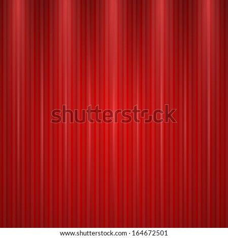 Vector Red background with realistic shadow - stock vector