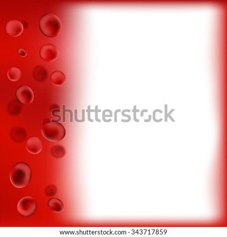 Vector Red Blood Background. Red Blood Cells. Medical Background - stock vector