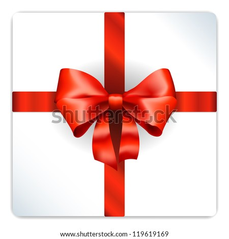 Vector Red bow isolated on white background