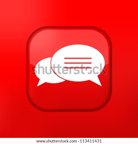 Vector red Bubble speech icon. Eps10. Easy to edit - stock vector