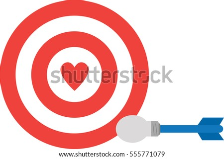 Bulls eye heart stock images royalty free images vectors vector red bullseye with red heart and light bulb dart thecheapjerseys Gallery