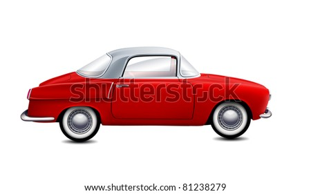 vector red car - stock vector
