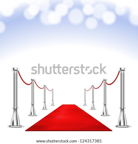 Vector Red Carpet isolated on white background - stock vector