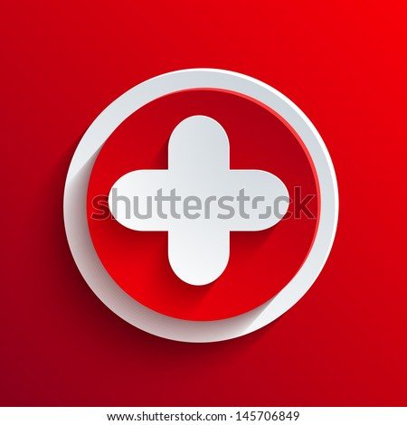 Vector red circle icon. Eps10 - stock vector