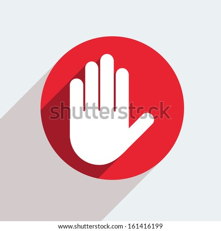 Vector red circle icon  on gray background. Eps10 - stock vector