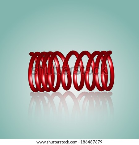 vector red coil - stock vector