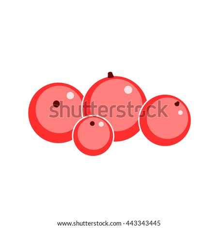 vector Red currant a white background