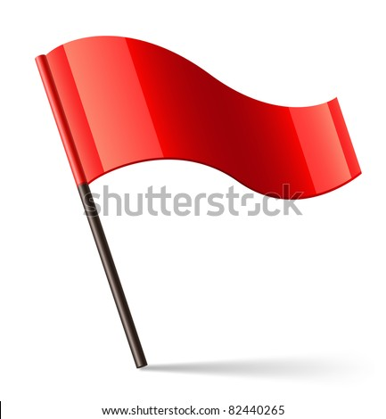 Vector Red Flag Icon - stock vector